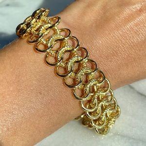 Kenneth Jay Lane 22K Gold Plt Mega Wide Bracelet